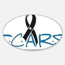 scars-logo-inset-shadow Sticker (Oval)