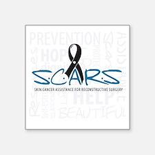 "scars-large-design Square Sticker 3"" x 3"""
