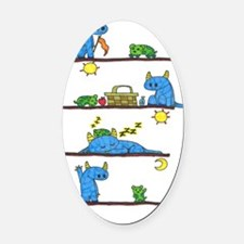color page 6 Oval Car Magnet