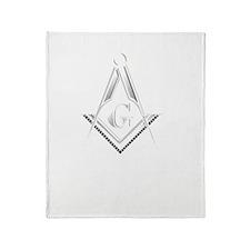F A Masons Wisconsin white Throw Blanket