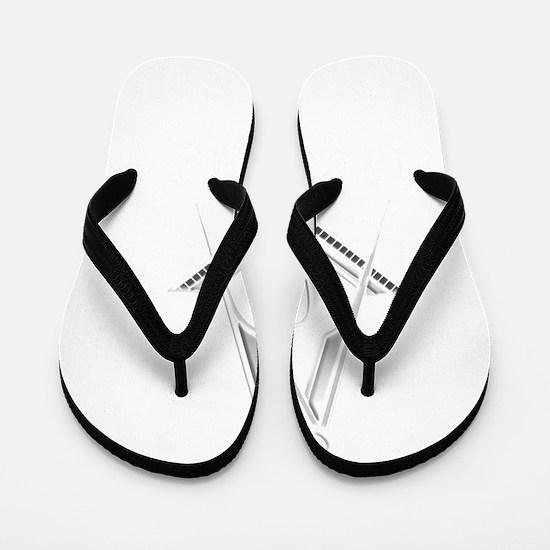 F A Masons Wisconsin white Flip Flops