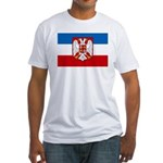 Yugoslavia w/coat of arms Fitted T-Shirt