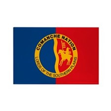 Comanche Flag Rectangle Magnet