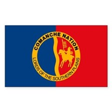 Comanche Flag Rectangle Decal