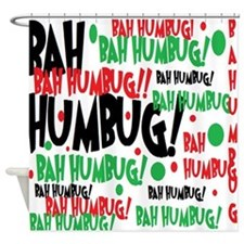 Bah Humbug Chr Shower Curtain