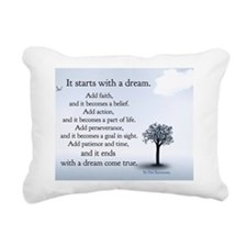 poster starts with dream Rectangular Canvas Pillow