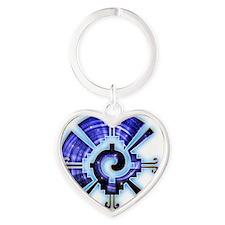 Galactic Buttefly Heart Keychain