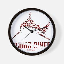 BullShark DIVER 10x10 CLR Wall Clock