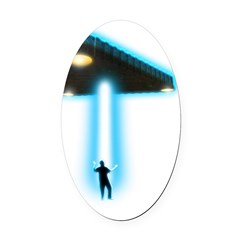 TR-3B Abduction Oval Car Magnet