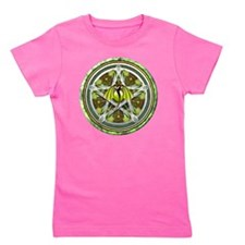 Celtic Earth Dragon Pentacle Girl's Tee