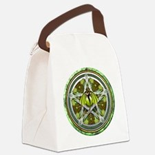 Celtic Earth Dragon Pentacle Canvas Lunch Bag