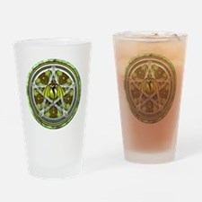 Celtic Earth Dragon Pentacle Drinking Glass