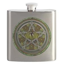 Celtic Earth Dragon Pentacle Flask