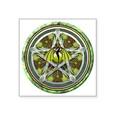 "Celtic Earth Dragon Pentacl Square Sticker 3"" x 3"""