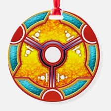 Double Moon Crop Circle Ornament