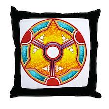 Double Moon Crop Circle Throw Pillow