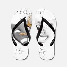 Hollywood Ice Theatre Logo (Dark Clothi Flip Flops
