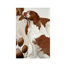brittany spaniels2 Rectangle Magnet