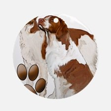 brittany spaniels2 Round Ornament