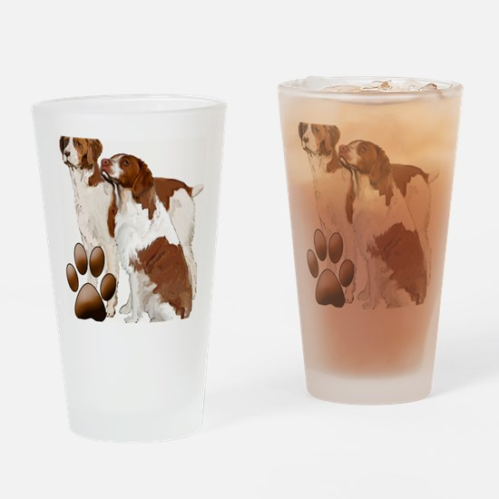 brittany spaniels2 Drinking Glass
