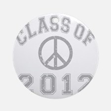 CO2012 Peace Gray Distressed Round Ornament