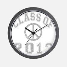 CO2012 Peace Gray Distressed Wall Clock