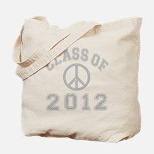 CO2012 Peace Gray Distressed Tote Bag