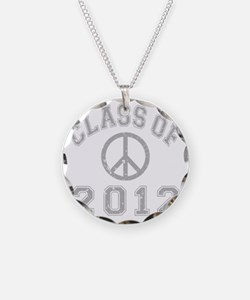 CO2012 Peace Gray Distressed Necklace Circle Charm