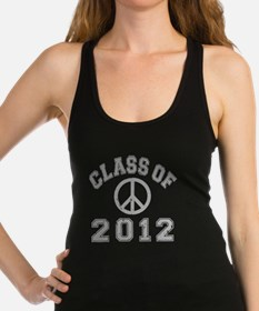CO2012 Peace Gray Distressed Racerback Tank Top