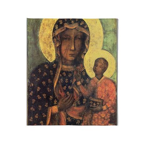Our Lady of Czestochowa Throw Blanket