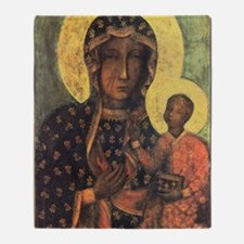 Our Lady of Czestochowa Throw Blanket