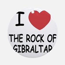 ROCK_OF_GIBRALTAR Round Ornament