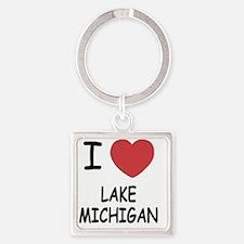 LAKE_MICHIGAN Square Keychain
