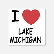"LAKE_MICHIGAN Square Sticker 3"" x 3"""