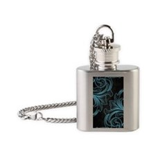 victorian iph cyan Flask Necklace