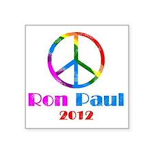 "peace sign 1 faded Square Sticker 3"" x 3"""