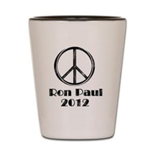 peace sign 2 faded Shot Glass