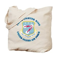 144th-Fighter-Wing---with-T Tote Bag