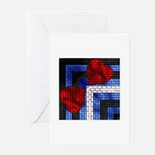LEATHER PRIDE BRICK DESIGN/SUCK Greeting Cards10PK