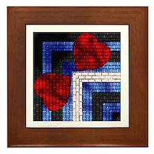 LEATHER PRIDE BRICK DESIGN6 Framed Tile