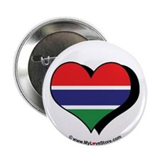 "I Love Gambia 2.25"" Button (100 pack)"