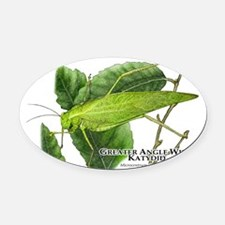 Greater Angle Wing Katydid Oval Car Magnet