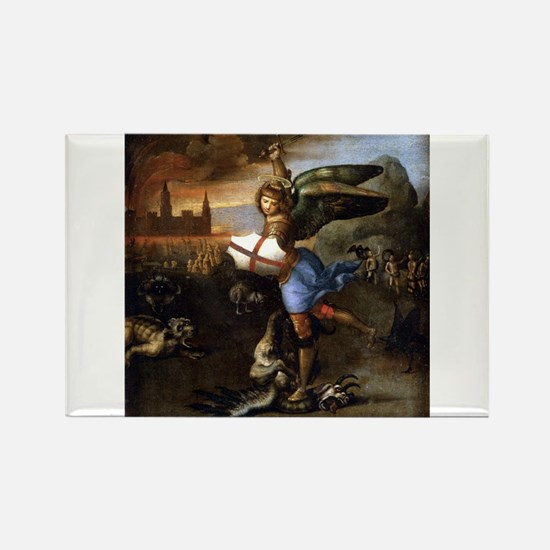 St Michael and the Dragon - Raphael Magnets
