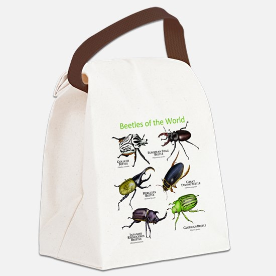 Beetles of the World Canvas Lunch Bag