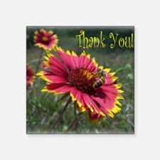 "Thank You! Square Sticker 3"" x 3"""