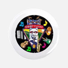 """WooFTunes LogoMusicWhite5 3.5"""" Button"""