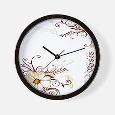 65 roses 2 Wall Clock