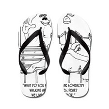 6445_ gorilla_cartoon Flip Flops