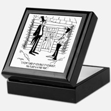 6451_lincoln_cartoon Keepsake Box