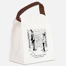 6451_lincoln_cartoon Canvas Lunch Bag